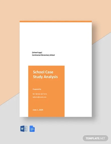 school case study analysis template