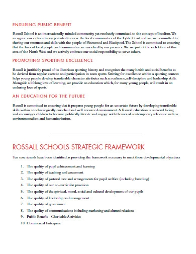 school strategic development plan