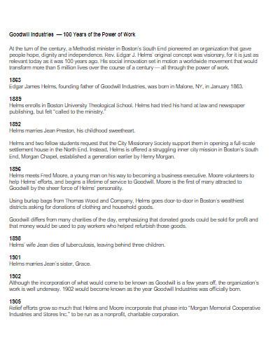 simple historical timeline