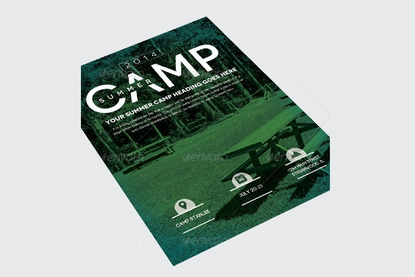 simple summer camp flyer