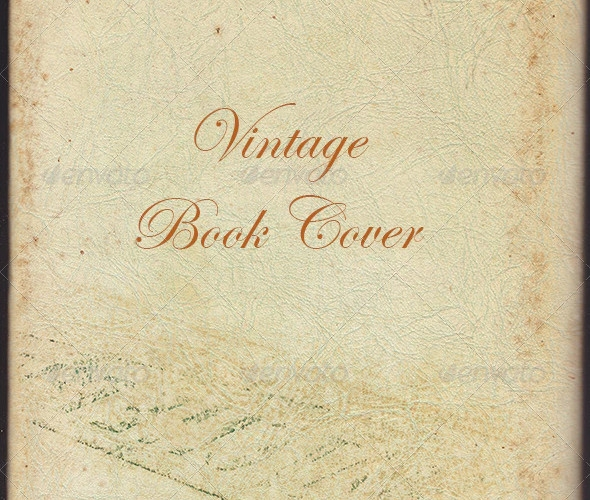 simple vintage book cover