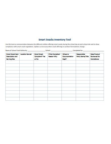 smart snacks inventory tool