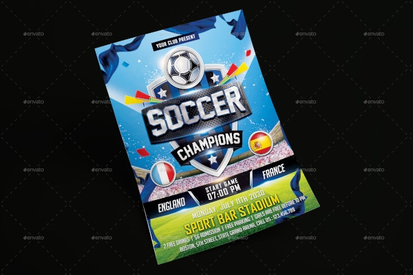 soccer champions flyer