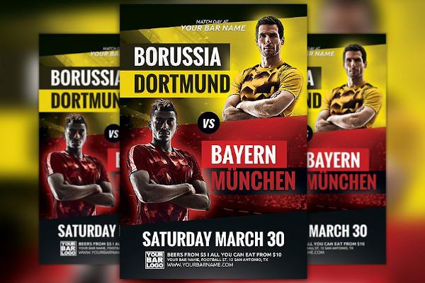 soccer champions league flyer