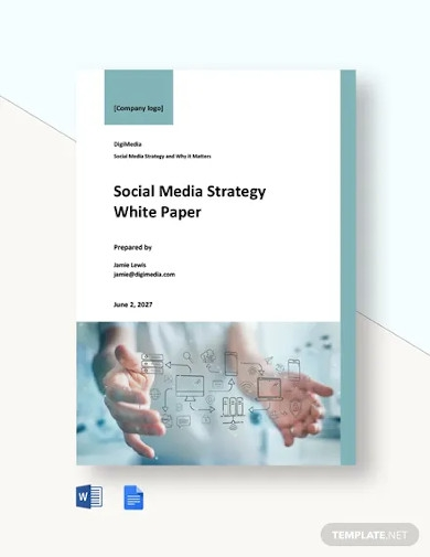 social media strategy white paper template
