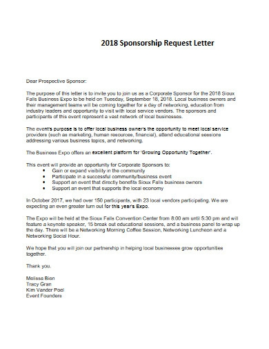 sponsorship request letter example