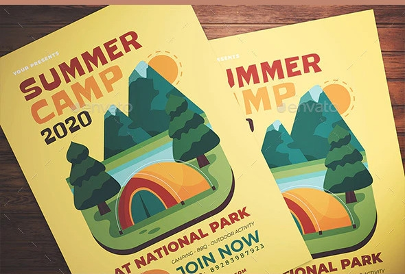 summer camp flyer example