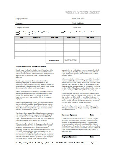 temporary employee services agreement