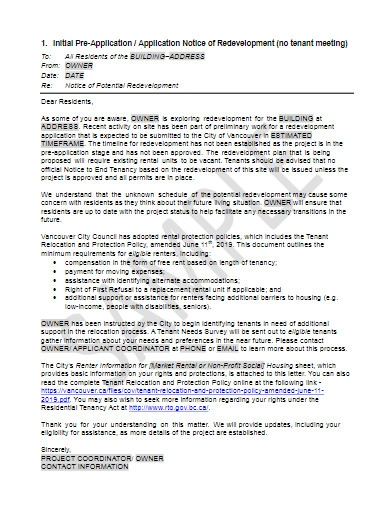 tenant warning letter example
