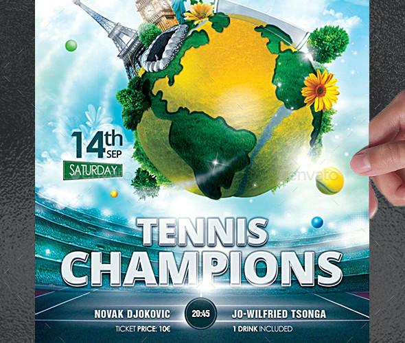 tennis champions flyer