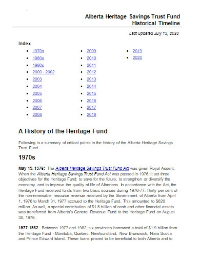 trust fund historical timeline