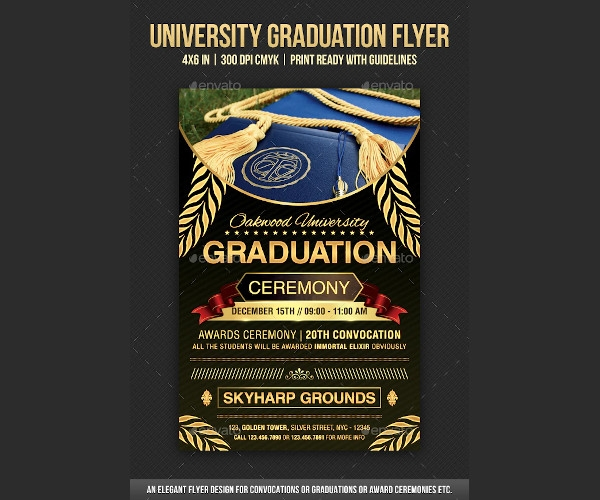 university graduation flyer