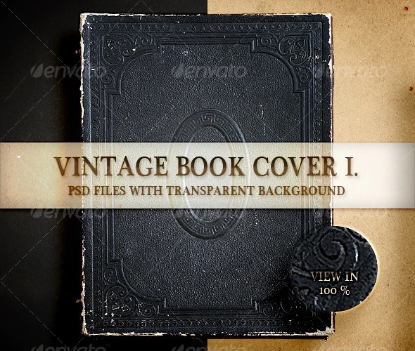 vintage book cover example