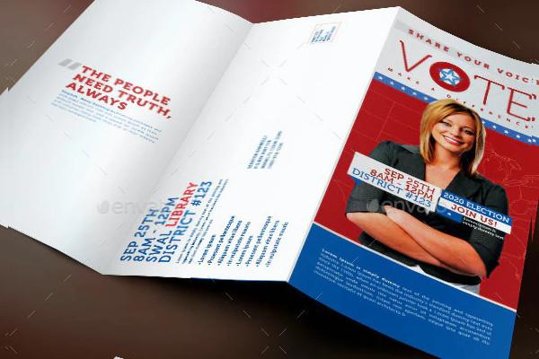 vote political election tri fold brochure template