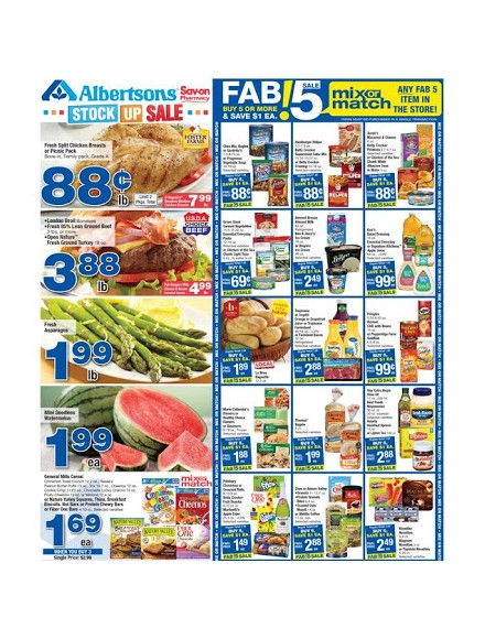 Albertsons Weekly Ad Flyer Template