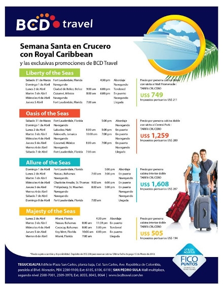 BCD Travel Advertising Flyer Example