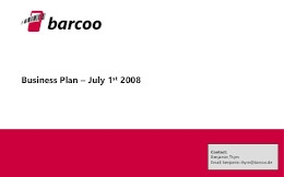 Barcoo Pitch Deck