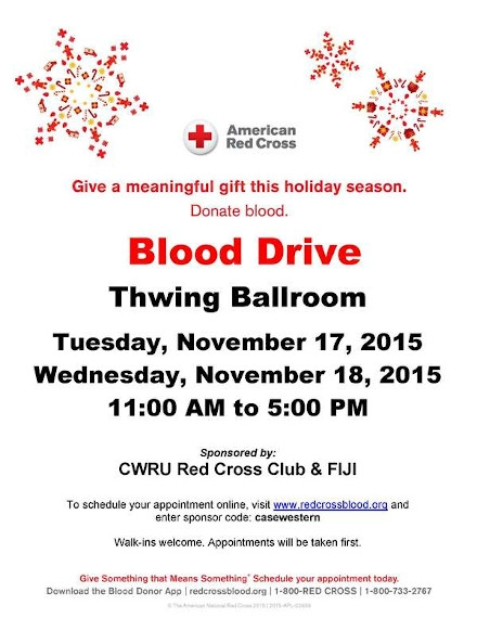 Blood Donation Flyer Example of American Red Cross