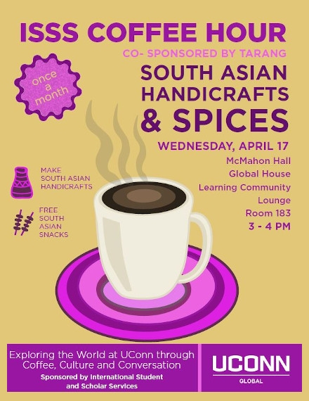 Coffee Hour Flyer Examples of ISSS University