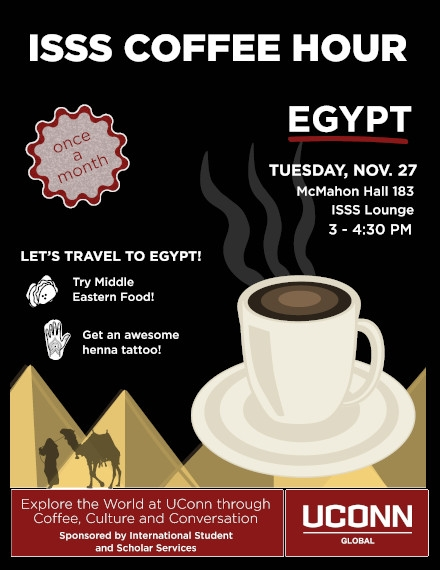 Coffee Hour Flyer of ISSS University Sample