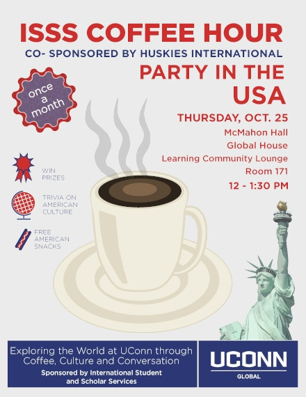 Coffee Hour Flyer of ISSS University Template