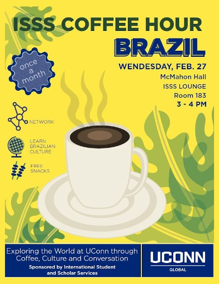 Coffee Hour Flyer of ISSS University