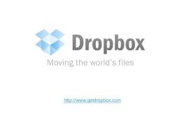 dropboxfirstpitchdeck