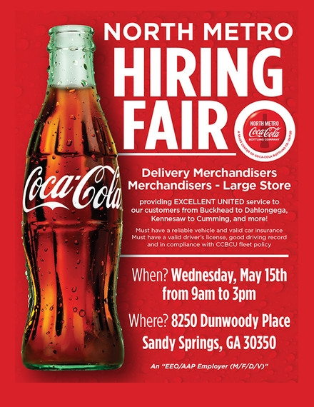 Hiring Flyer Example of Coca Cola