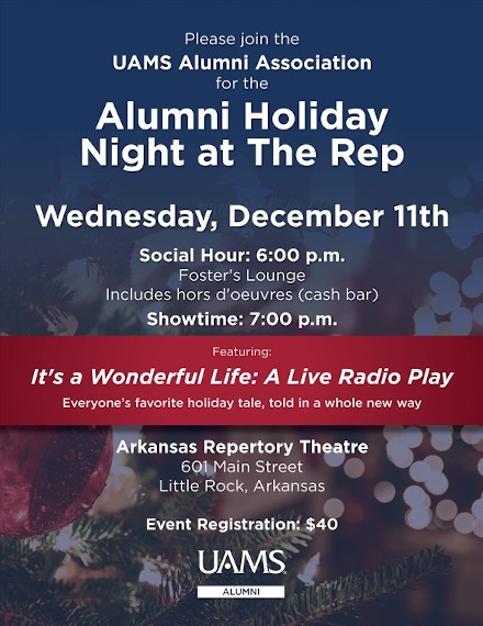 Holiday Flyer Example of UAMS