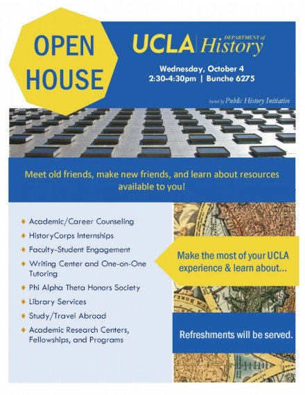 Open House Event Flyer Example of UCLA College
