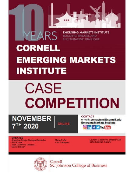 Annual Competition Flyer Example of Cornell University