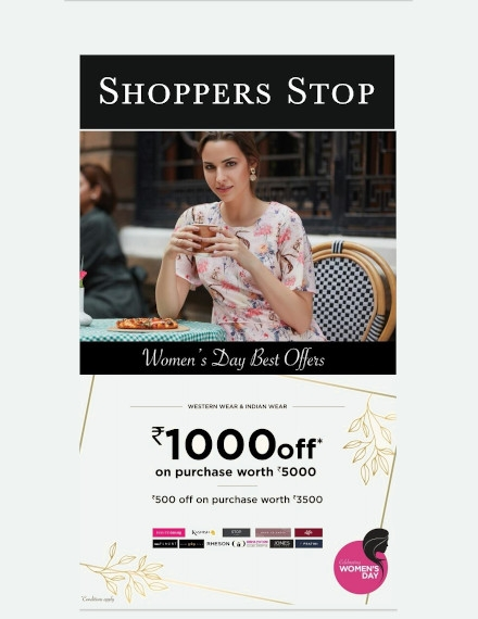 Business Advertising Flyer Example of Shoppers Stop