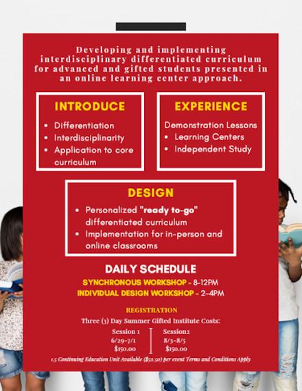 Summer Workshop Flyer of Rossier School