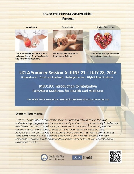 UCLA Summer Course Event Flyer Example
