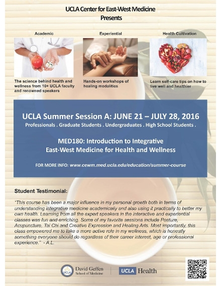 UCLA Summer Course Event Flyer Sample