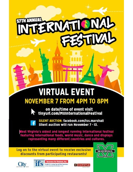 Virtual Event Flyer Example of Marshall University