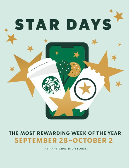 Advertising Flyer Example of Starbucks