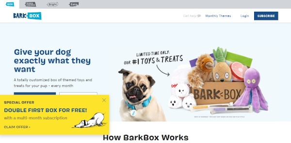 BarkBox Call To Action