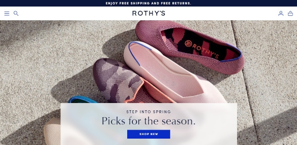 Call To Action of Rothy's