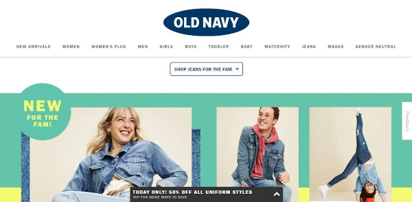 call to action to old navy