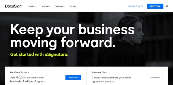 DocuSign Call To Action