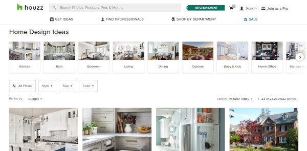 Houzz Call To Action
