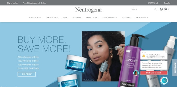 Neutrogena Call to Action