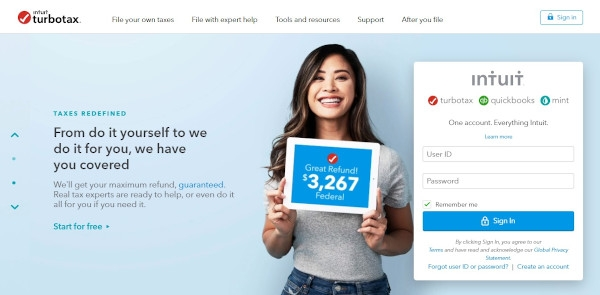 TurboTax Call To Action