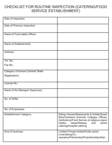 bar shift change checklist template