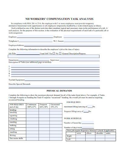 compensation task analysis