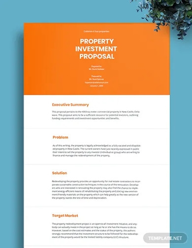 editable property investment proposal
