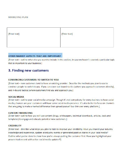 editable retail marketing plan template