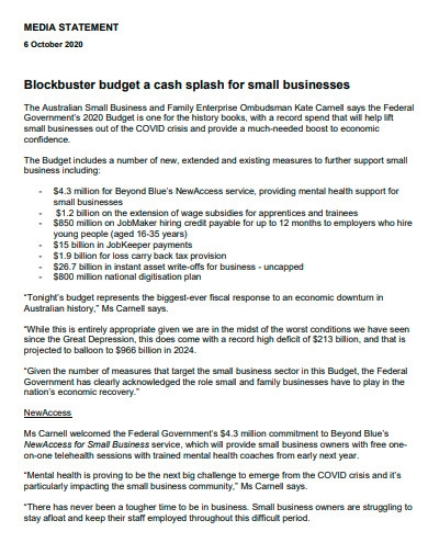 editable small business budget