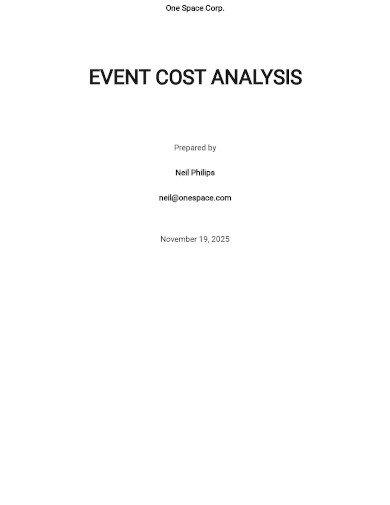 event cost analysis